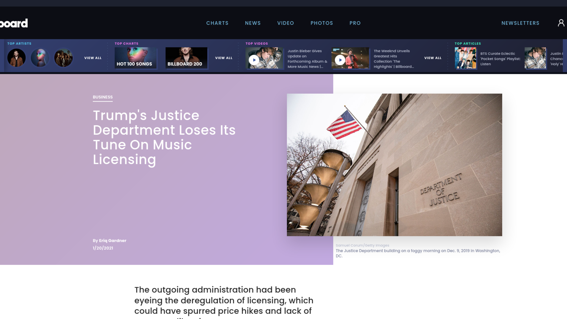 Fairness Rocks News Trump's Justice Department Loses Its Tune On Music Licensing