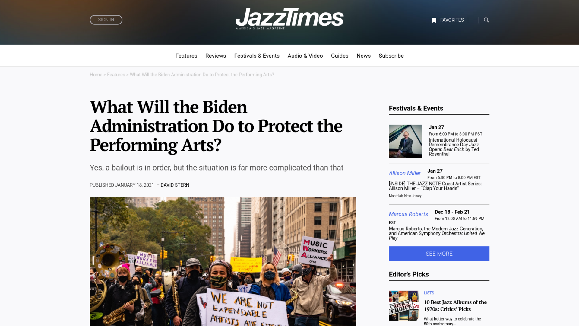 Fairness Rocks News What Will the Biden Administration Do to Protect the Performing Arts?
