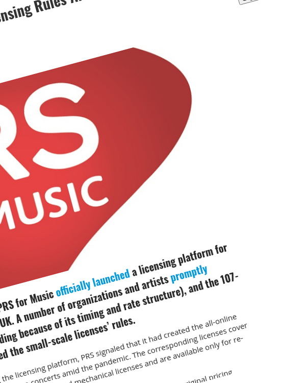 Fairness Rocks News PRS Changes Its Livestreaming Licensing Rules After Massive Indie Backlash