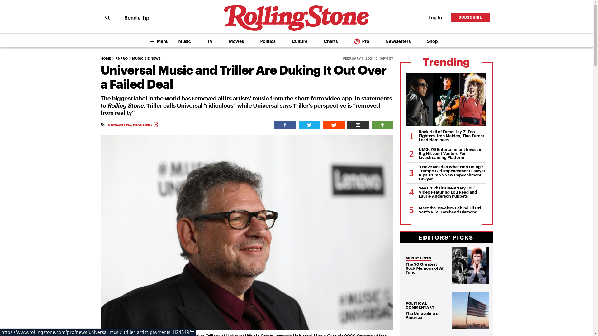 Fairness Rocks News Universal Music and Triller Are Duking It Out Over a Failed Deal