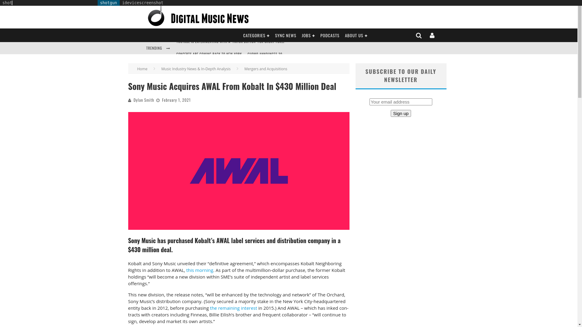 Fairness Rocks News Sony Music Acquires AWAL From Kobalt In $430 Million Deal