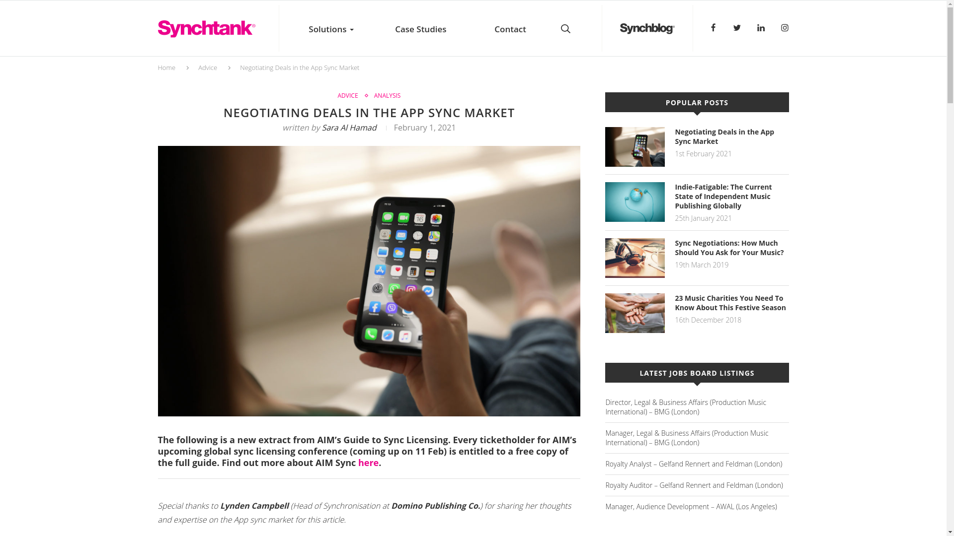 Fairness Rocks News NEGOTIATING DEALS IN THE APP SYNC MARKET