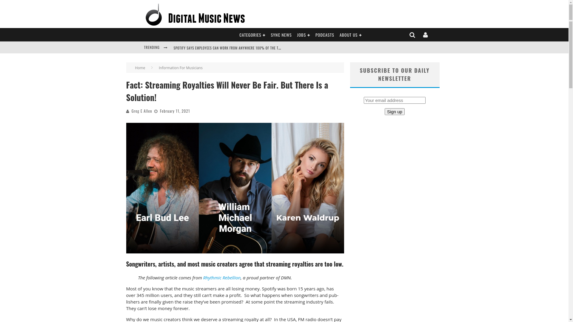 Fairness Rocks News Fact: Streaming Royalties Will Never Be Fair. But There Is a Solution!