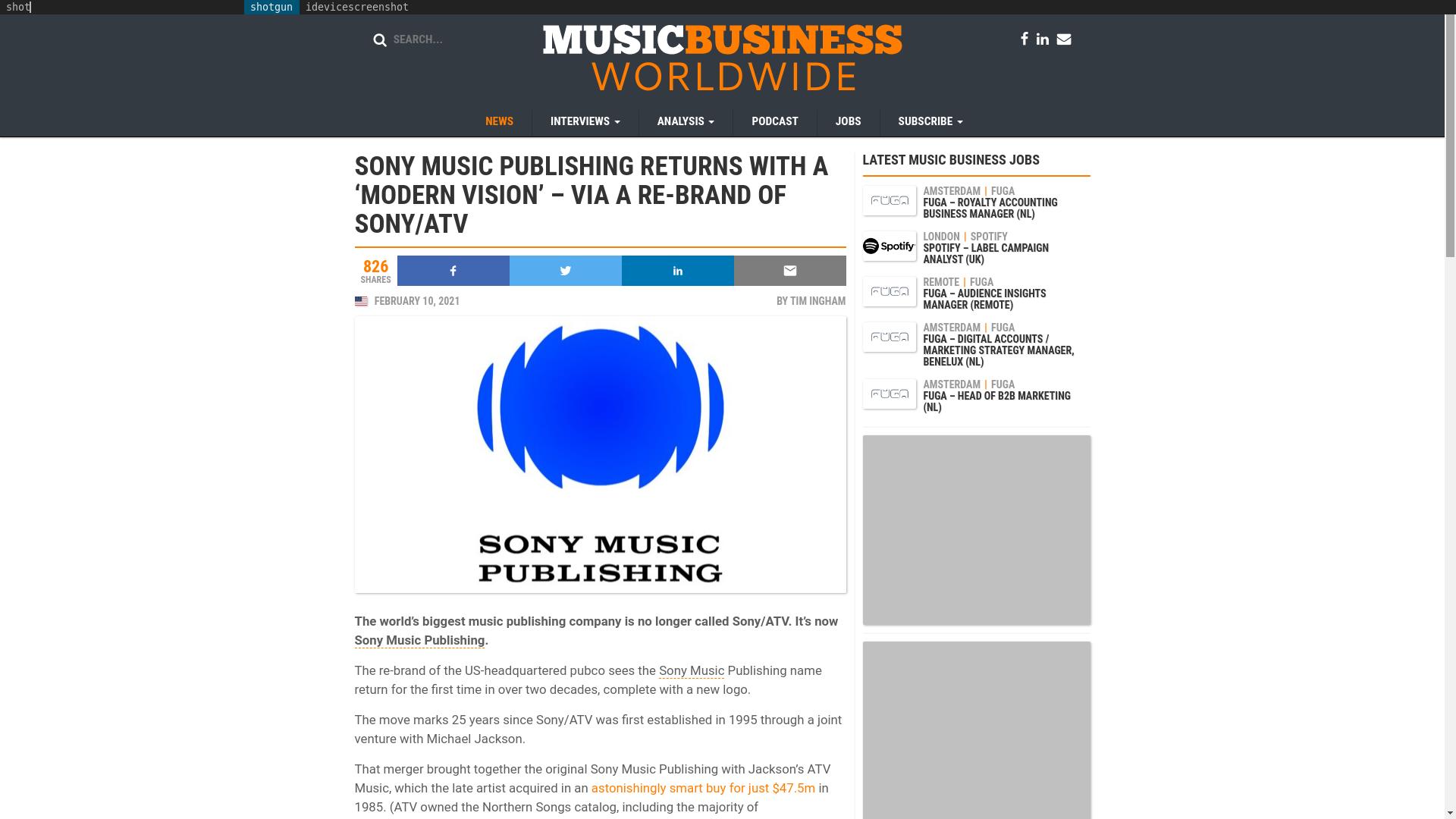 Fairness Rocks News SONY MUSIC PUBLISHING RETURNS WITH A 'MODERN VISION' – VIA A RE-BRAND OF SONY/ATV
