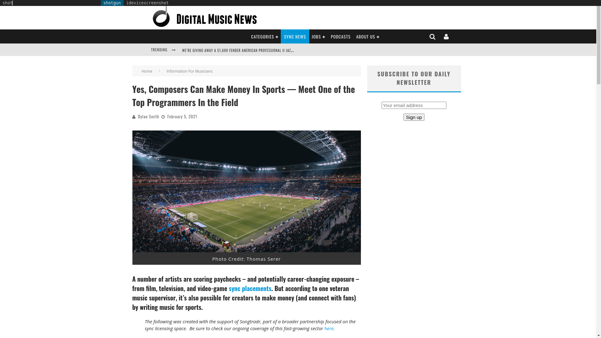 Fairness Rocks News Yes, Composers Can Make Money In Sports — Meet One of the Top Programmers In the Field