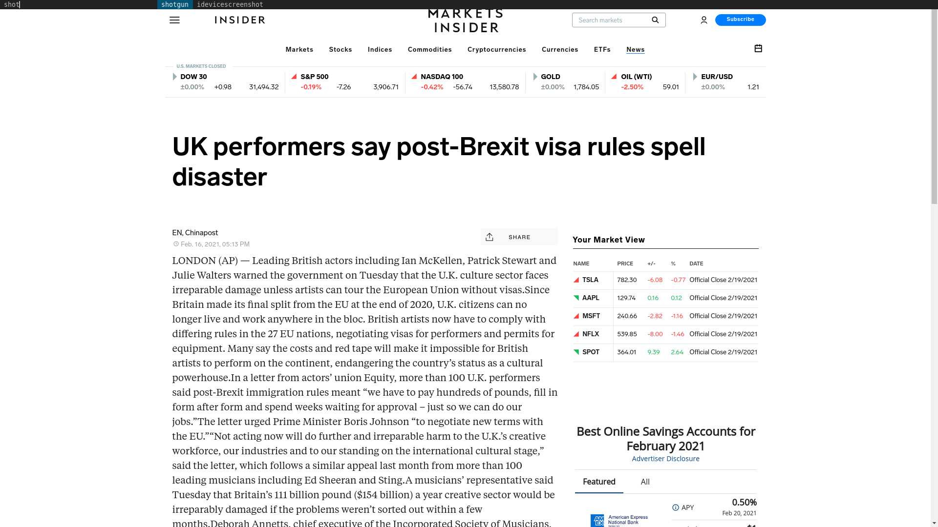 Fairness Rocks News UK performers say post-Brexit visa rules spell disaster