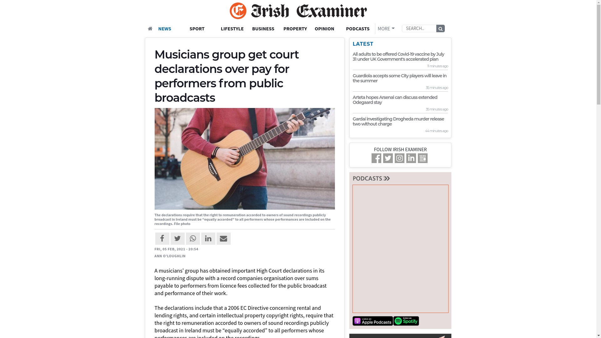 Fairness Rocks News Musicians group get court declarations over pay for performers from public broadcasts