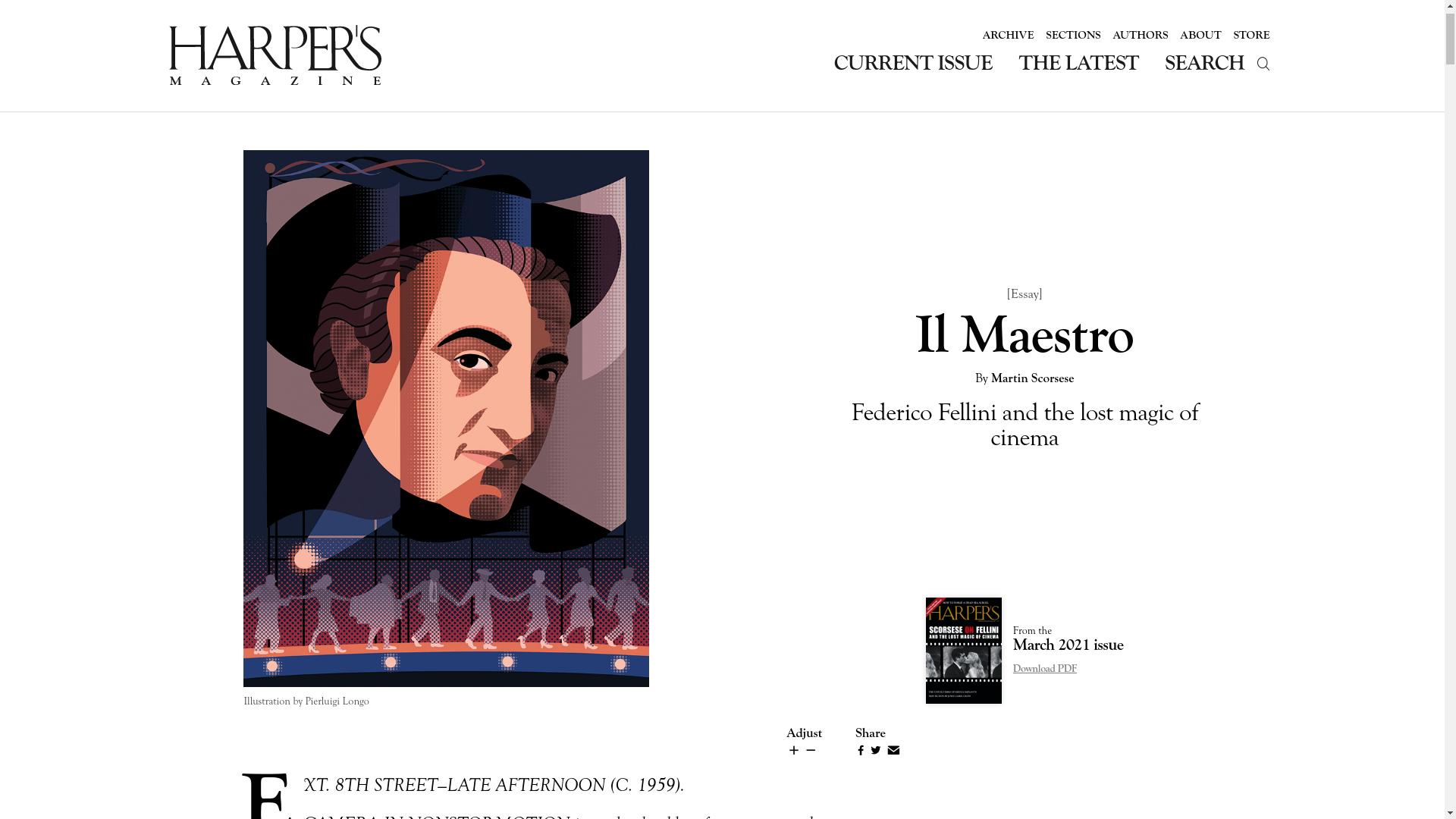 Fairness Rocks News Il Maestro By Martin Scorsese: Federico Fellini and the lost magic of cinema