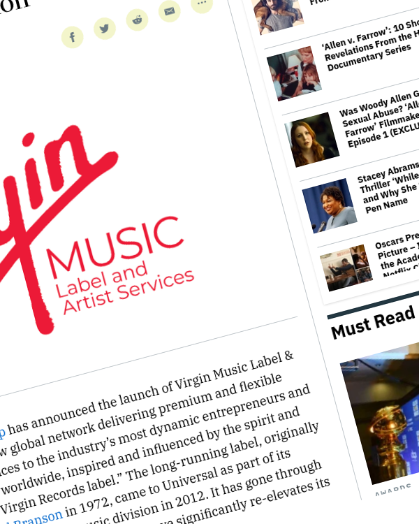 Fairness Rocks News Universal Music Launches Virgin Label and Artist Services Division