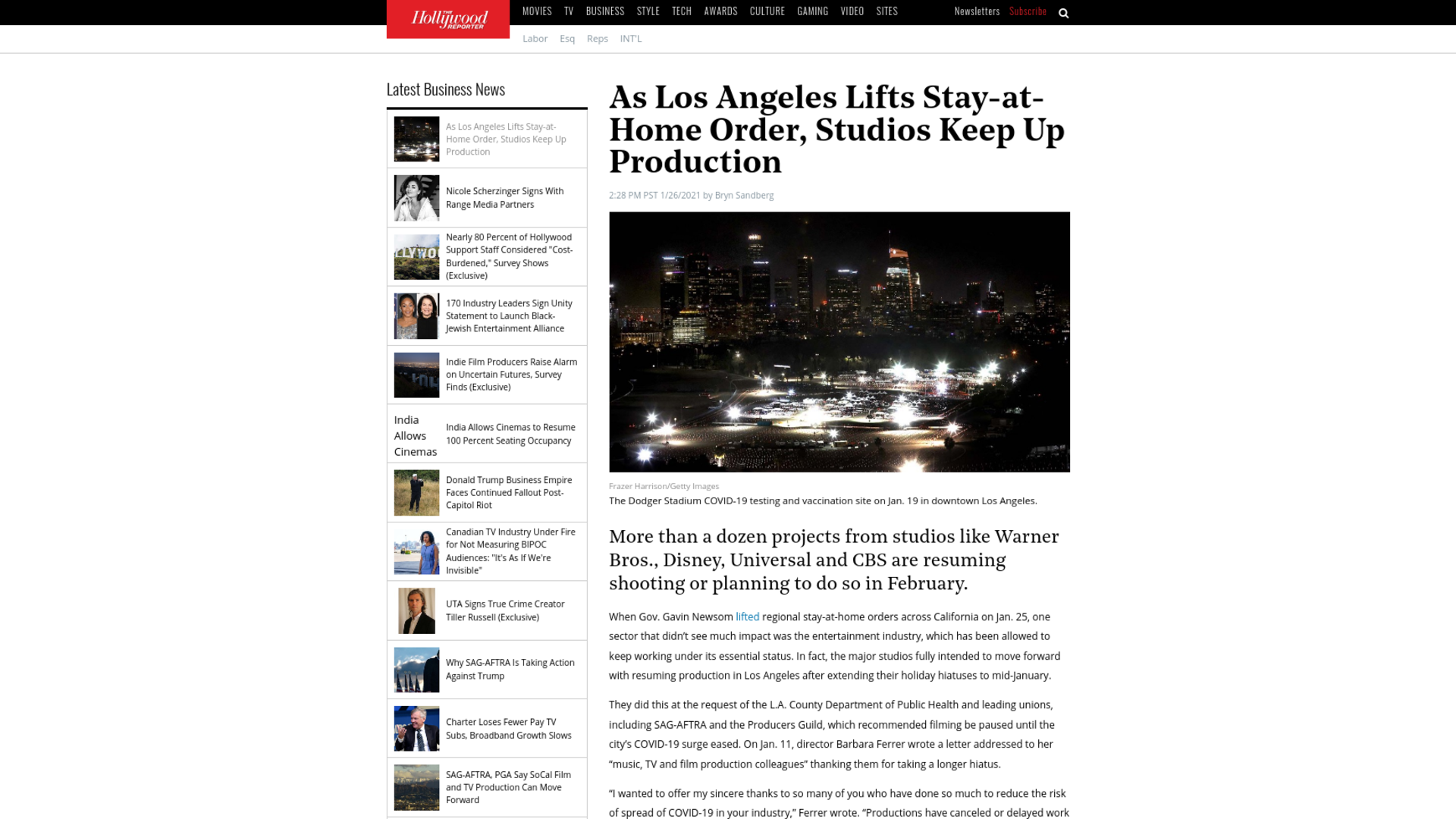 Fairness Rocks News As Los Angeles Lifts Stay-at-Home Order, Studios Keep Up Production