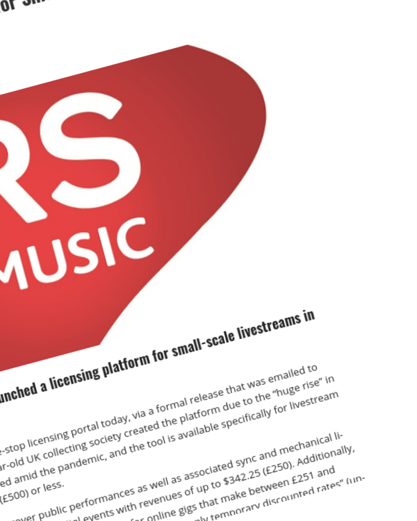 Fairness Rocks News Now There's a Licensing Platform for Small-Scale Livestreams In the UK