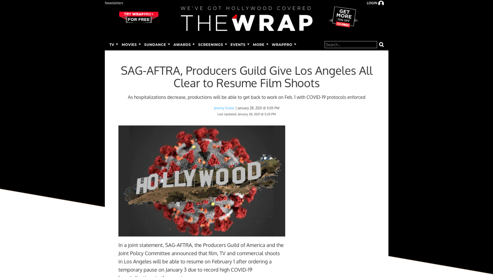 Fairness Rocks News SAG-AFTRA, Producers Guild Give Los Angeles All Clear to Resume Film Shoots