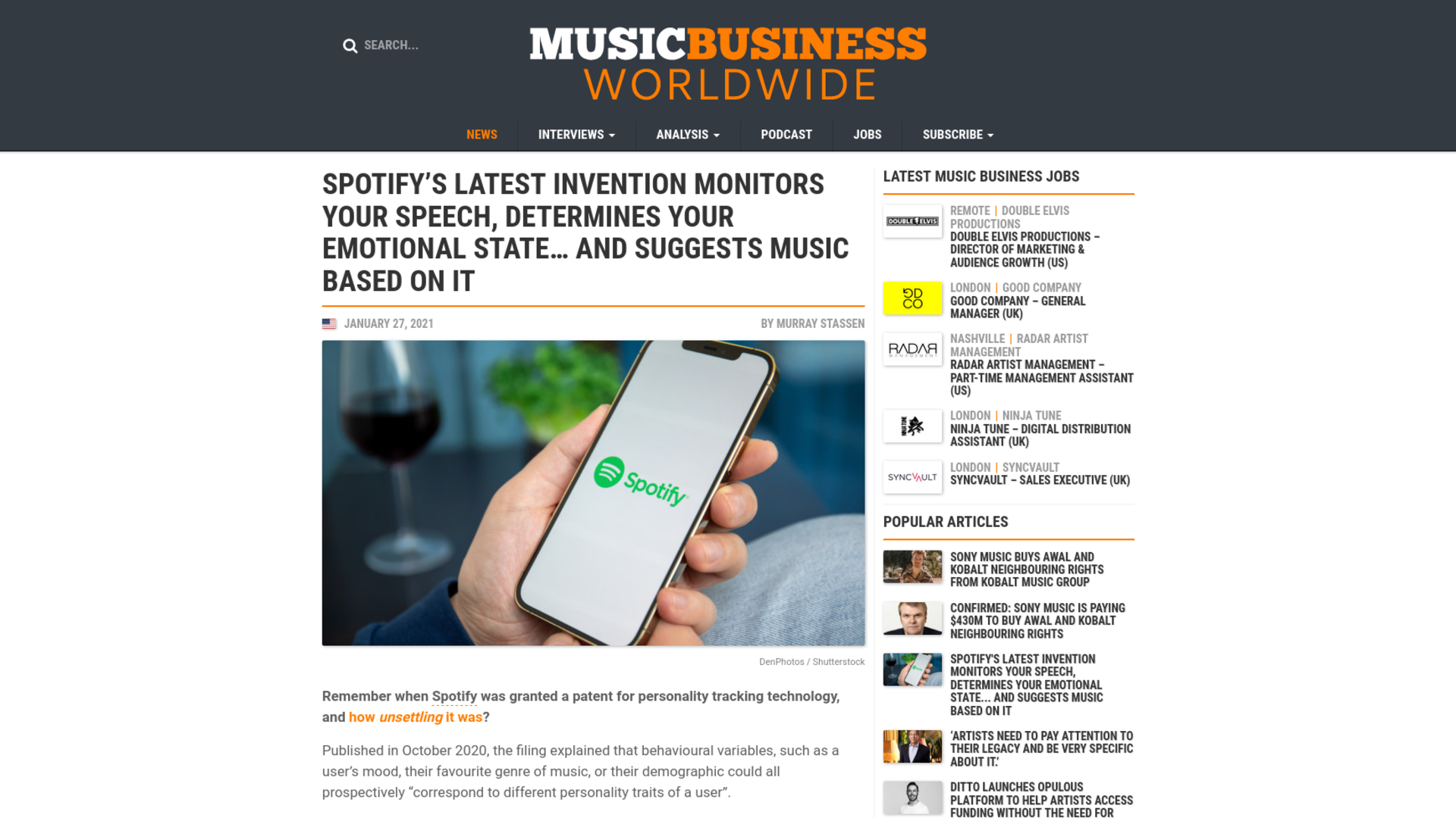 Fairness Rocks News Spotify's latest invention monitors your speech, determines your emotional state… and suggests music based on it