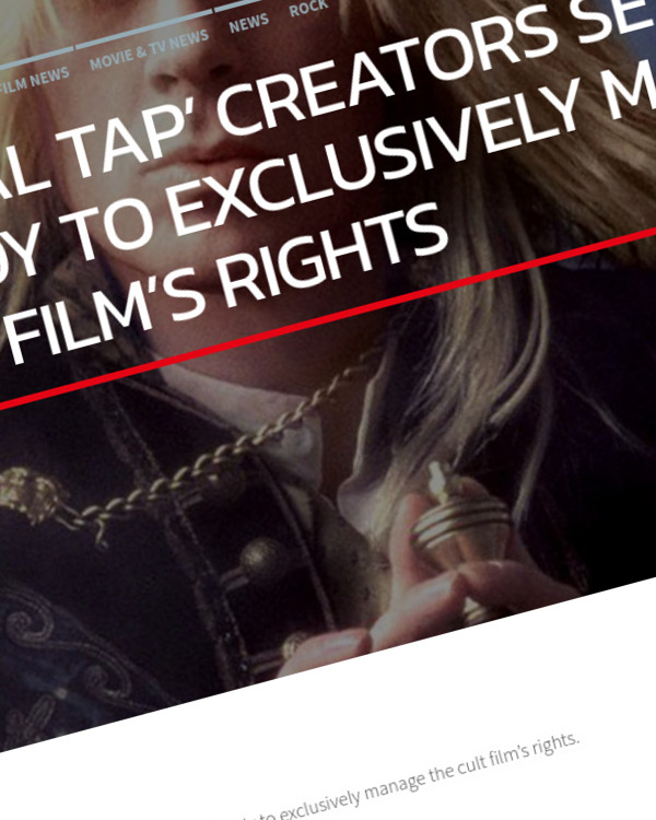 Fairness Rocks News 'THIS IS SPINAL TAP' CREATORS SET UP LICENSING BODY TO EXCLUSIVELY MANAGE FILM'S RIGHTS