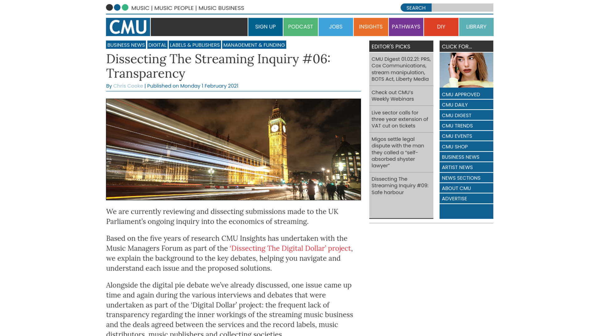 Fairness Rocks News Dissecting The Streaming Inquiry #06: Transparency