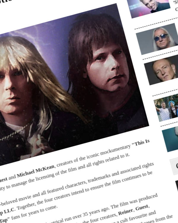Fairness Rocks News 'Spinal Tap' Creators Set Up Licensing Body To Manage Exploitation Of Their Iconic Motion Picture