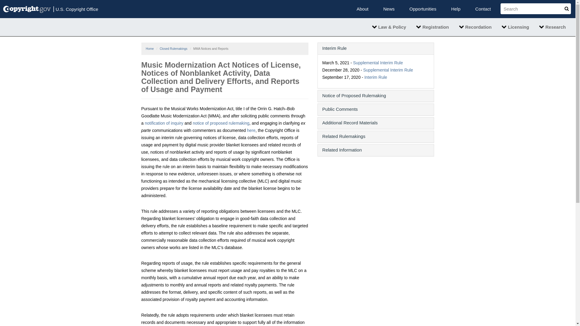Fairness Rocks News Music Modernization Act Notices of License, Notices of Nonblanket Activity, Data Collection and Delivery Efforts, and Reports of Usage and Payment