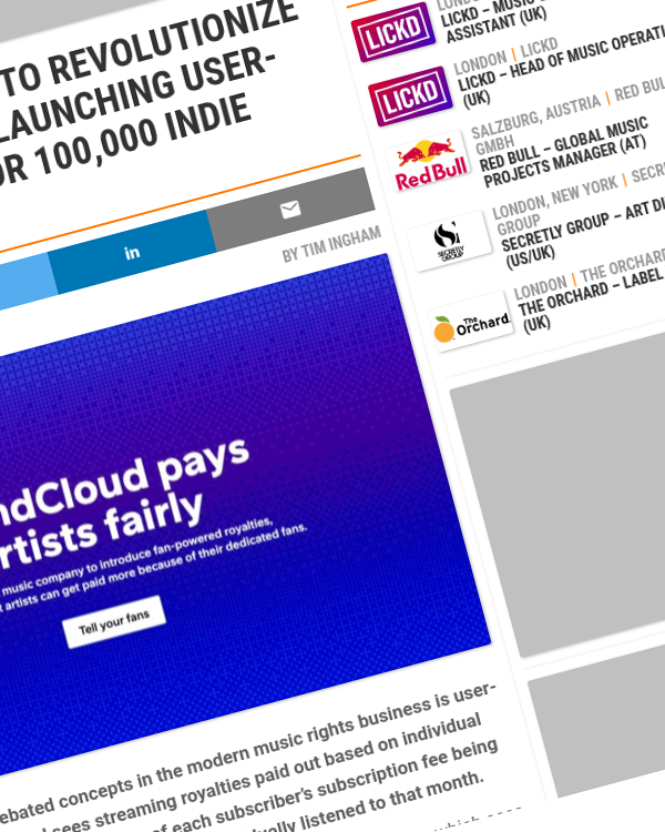 Fairness Rocks News SOUNDCLOUD IS ABOUT TO REVOLUTIONIZE STREAMING PAYOUTS, LAUNCHING USER-CENTRIC ROYALTIES FOR 100,000 INDIE ARTISTS