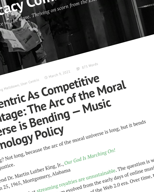Fairness Rocks News User Centric As Competitive Advantage: The Arc of the Moral Universe is Bending — Music Technology Policy