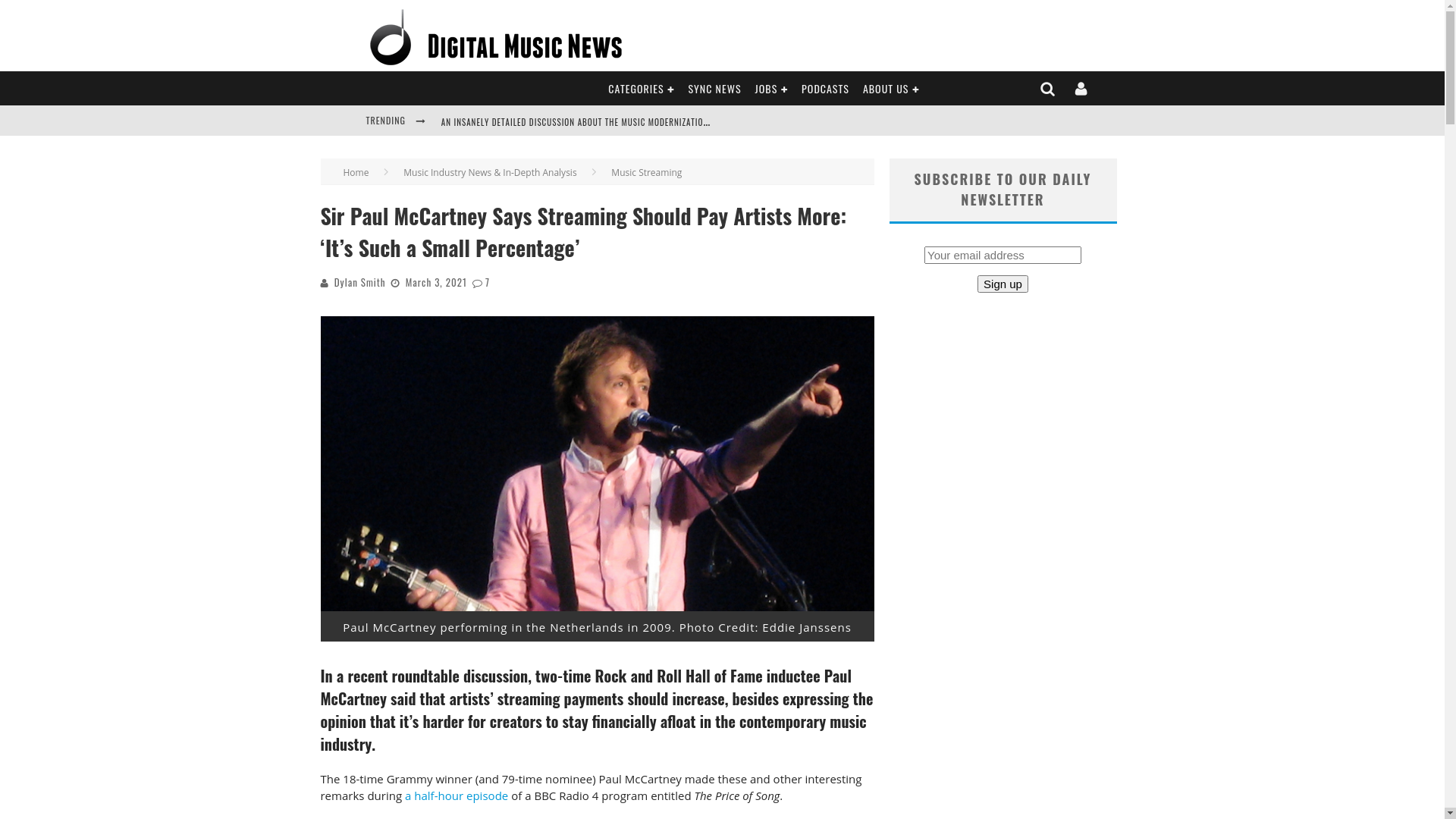 Fairness Rocks News Sir Paul McCartney Says Streaming Should Pay Artists More: 'It's Such a Small Percentage'