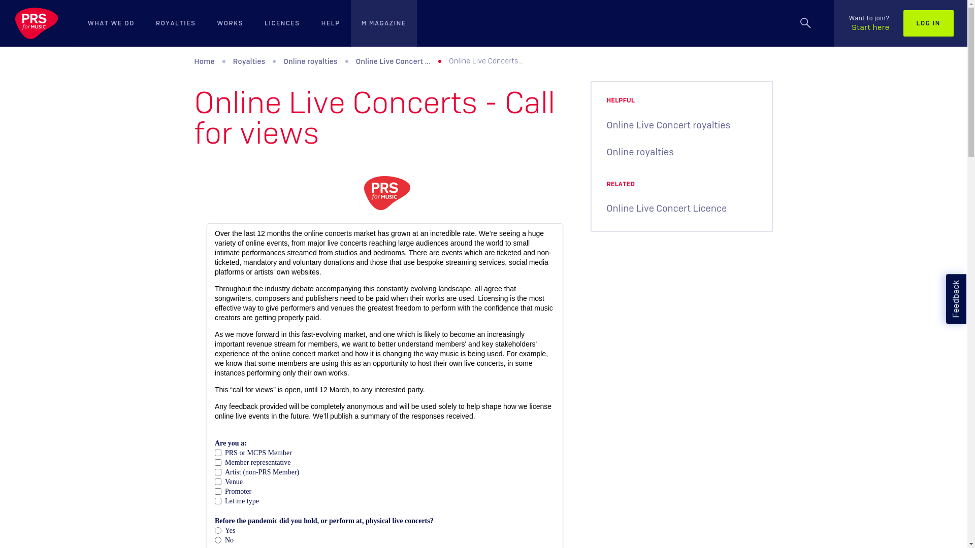 Fairness Rocks News Online Live Concerts – Call for views