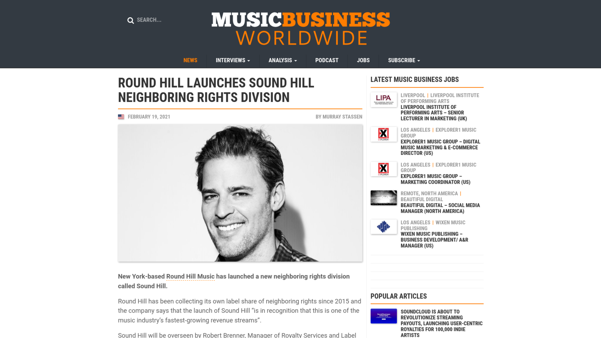 Fairness Rocks News ROUND HILL LAUNCHES SOUND HILL NEIGHBORING RIGHTS DIVISION