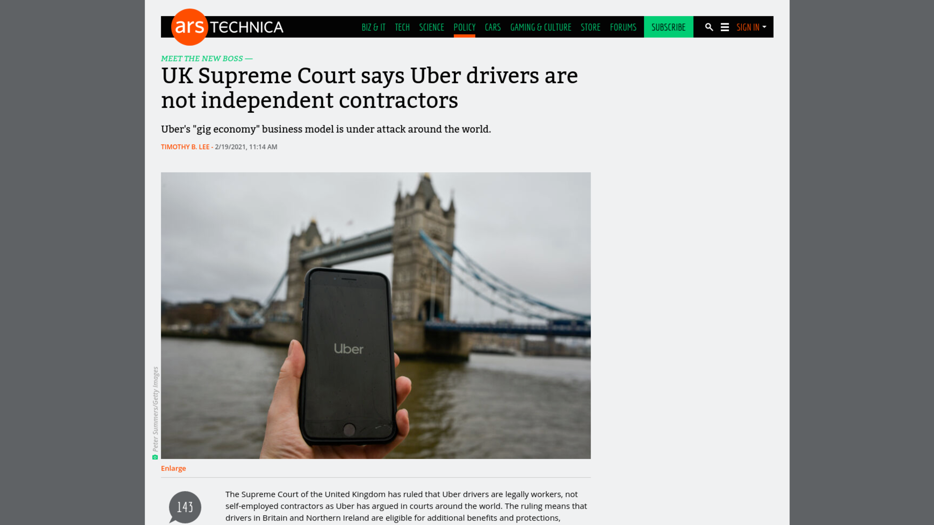 Fairness Rocks News UK Supreme Court says Uber drivers are not independent contractors