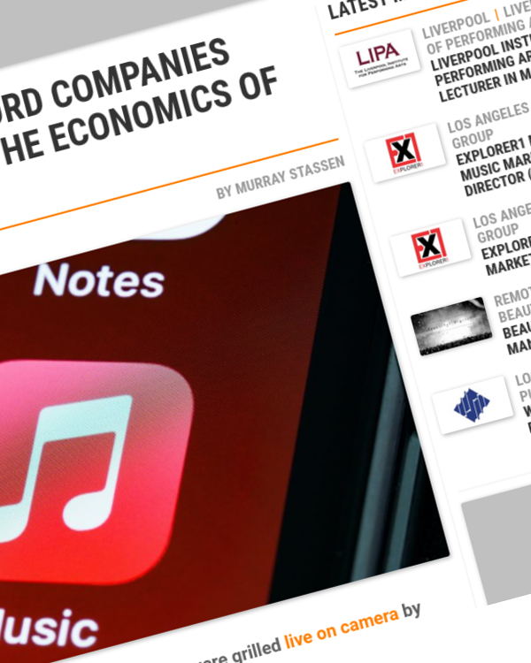 Fairness Rocks News WHAT THE MAJOR RECORD COMPANIES REALLY THINK ABOUT THE ECONOMICS OF MUSIC STREAMING