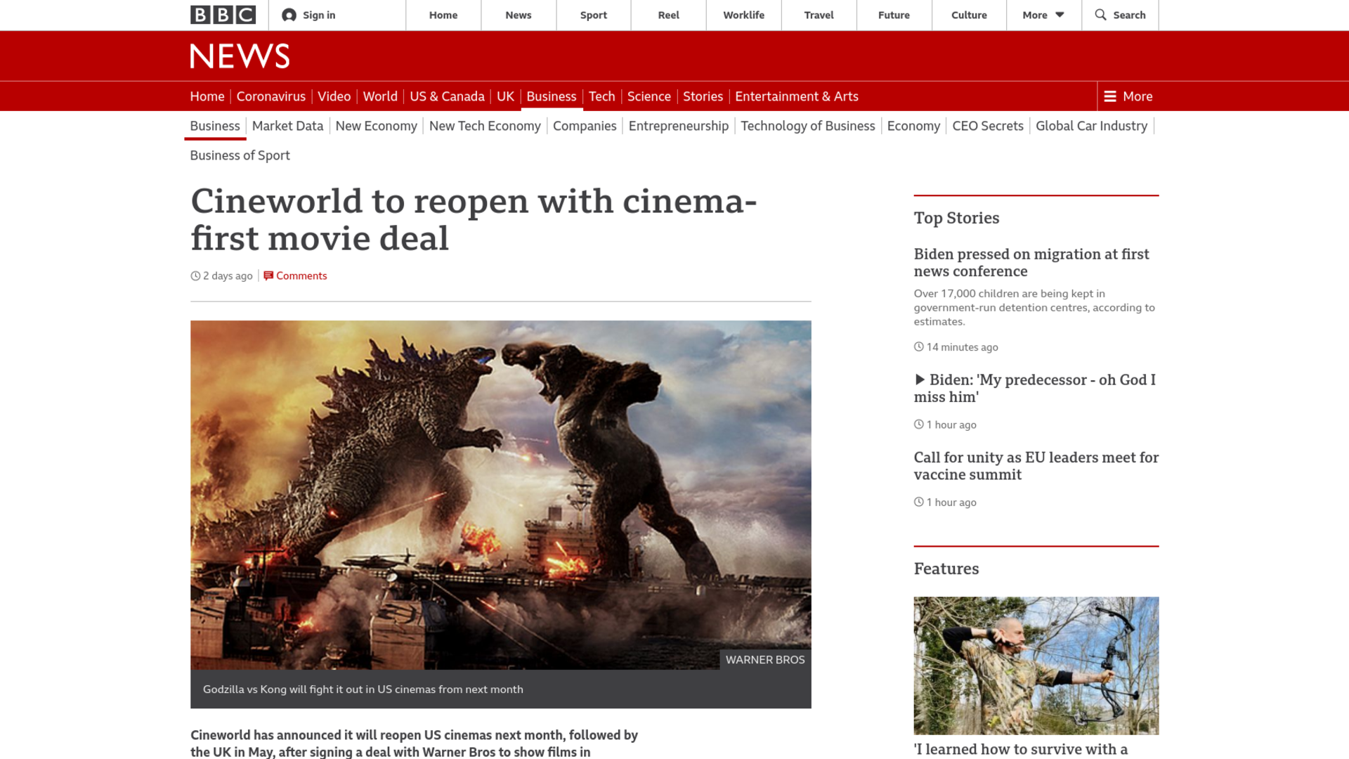 Fairness Rocks News Cineworld to reopen with cinema-first movie deal