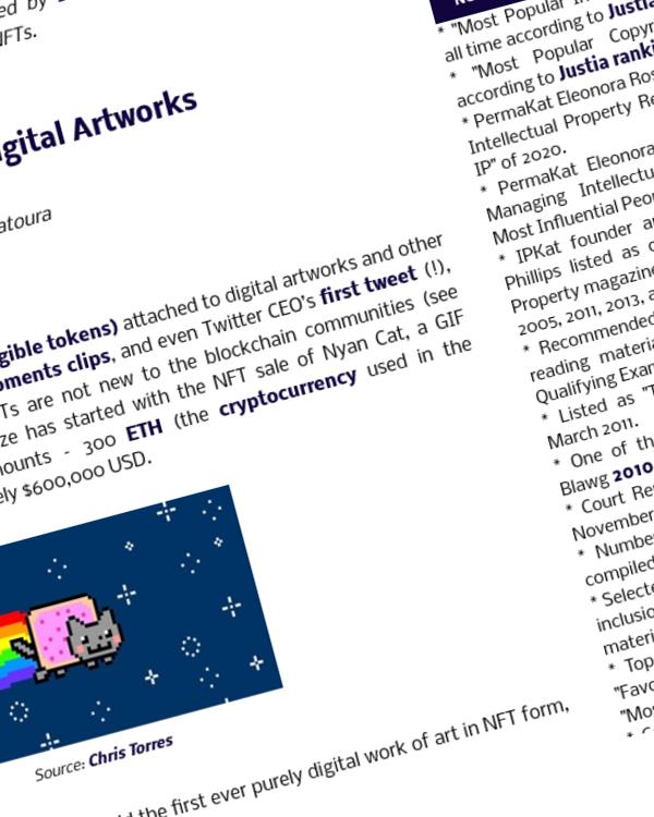 Fairness Rocks News Copyright & NFTs of Digital Artworks