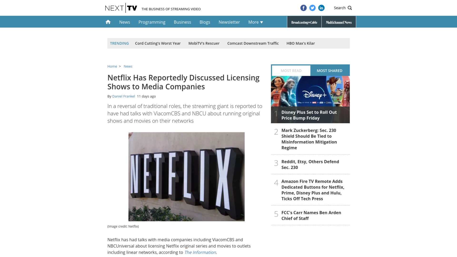 Fairness Rocks News Netflix Has Reportedly Discussed Licensing Shows to Media Companies