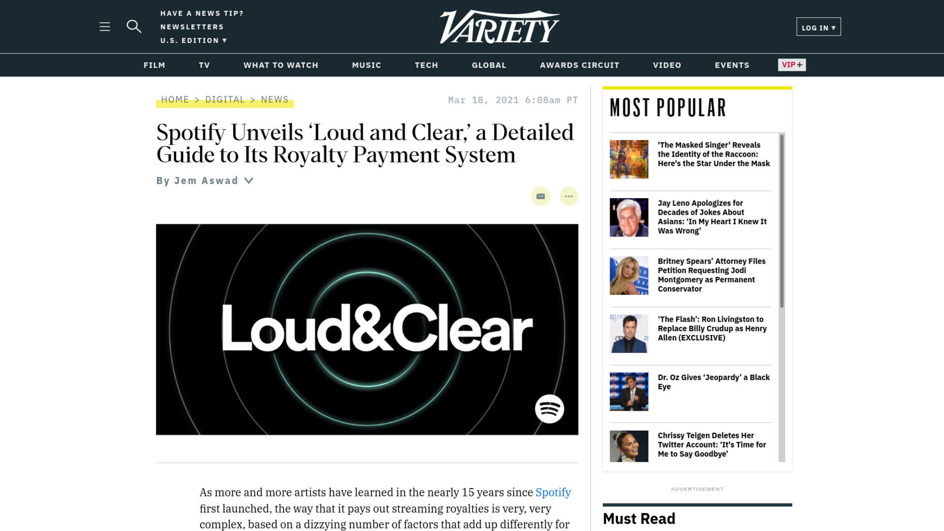 Fairness Rocks News Spotify Unveils 'Loud and Clear,' a Detailed Guide to Its Royalty Payment System