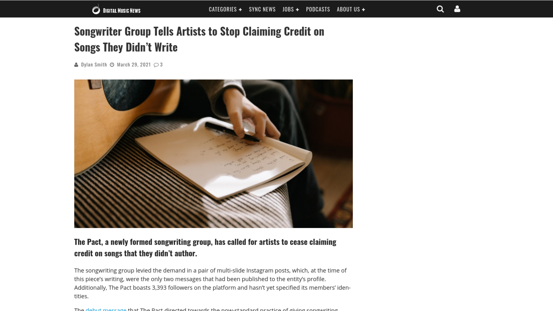 Fairness Rocks News Songwriter Group Tells Artists to Stop Claiming Credit on Songs They Didn't Write
