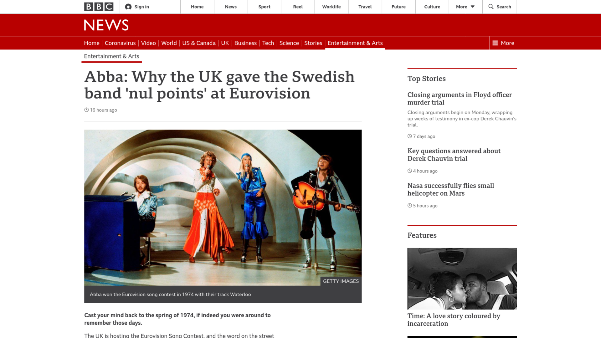 Fairness Rocks News Abba: Why the UK gave the Swedish band 'nul points' at Eurovision