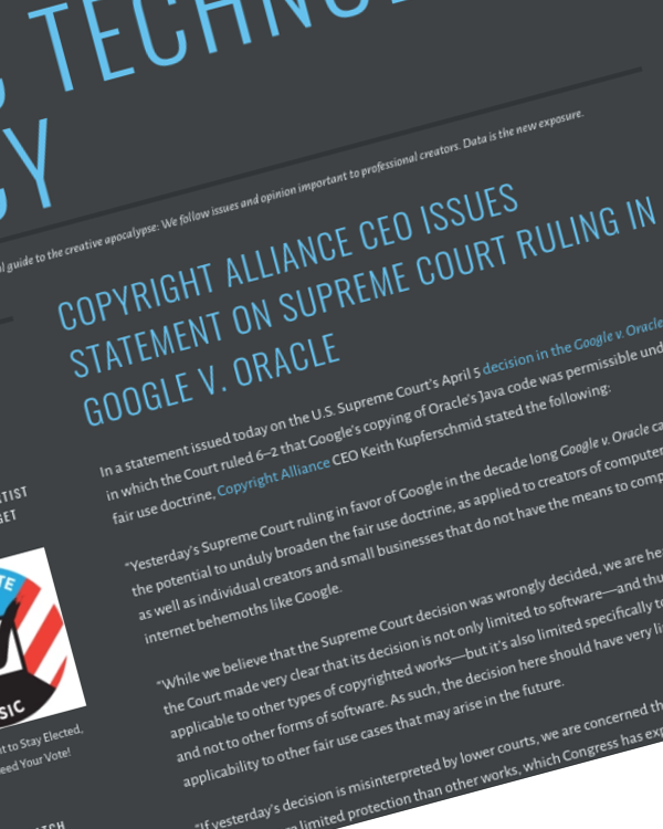 Fairness Rocks News Copyright Alliance CEO Issues Statement on Supreme Court Ruling in Google v. Oracle