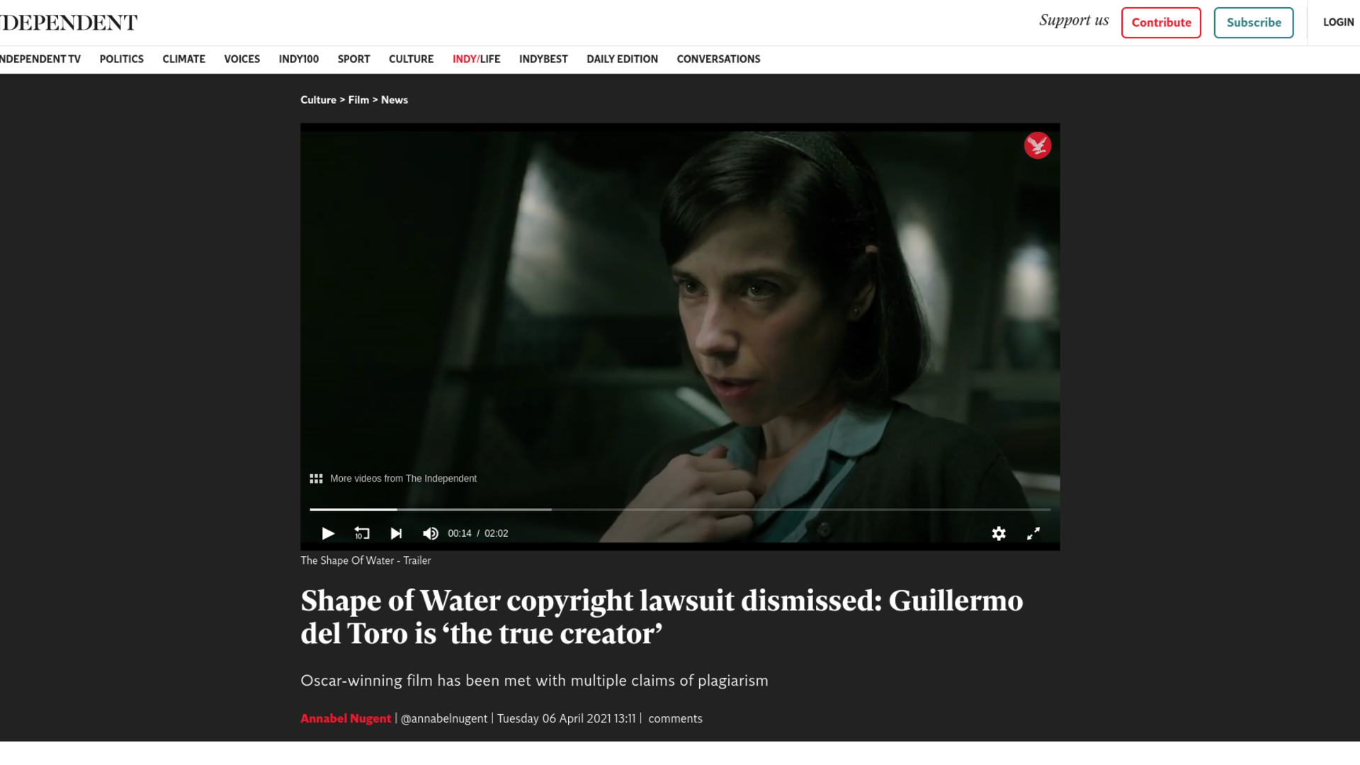 Fairness Rocks News Shape of Water copyright lawsuit dismissed: Guillermo del Toro is 'the true creator'