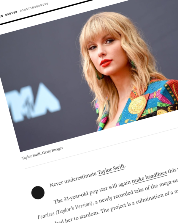 Fairness Rocks News Taylor Swift Was 'Stripped of Her Life's Work.' Her Response Was a Master Class in Emotional Intelligence