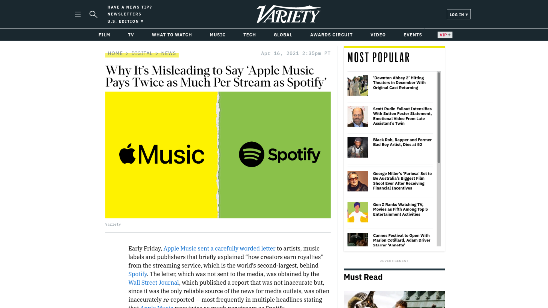 Fairness Rocks News Why It's Misleading to Say 'Apple Music Pays Twice as Much Per Stream as Spotify'