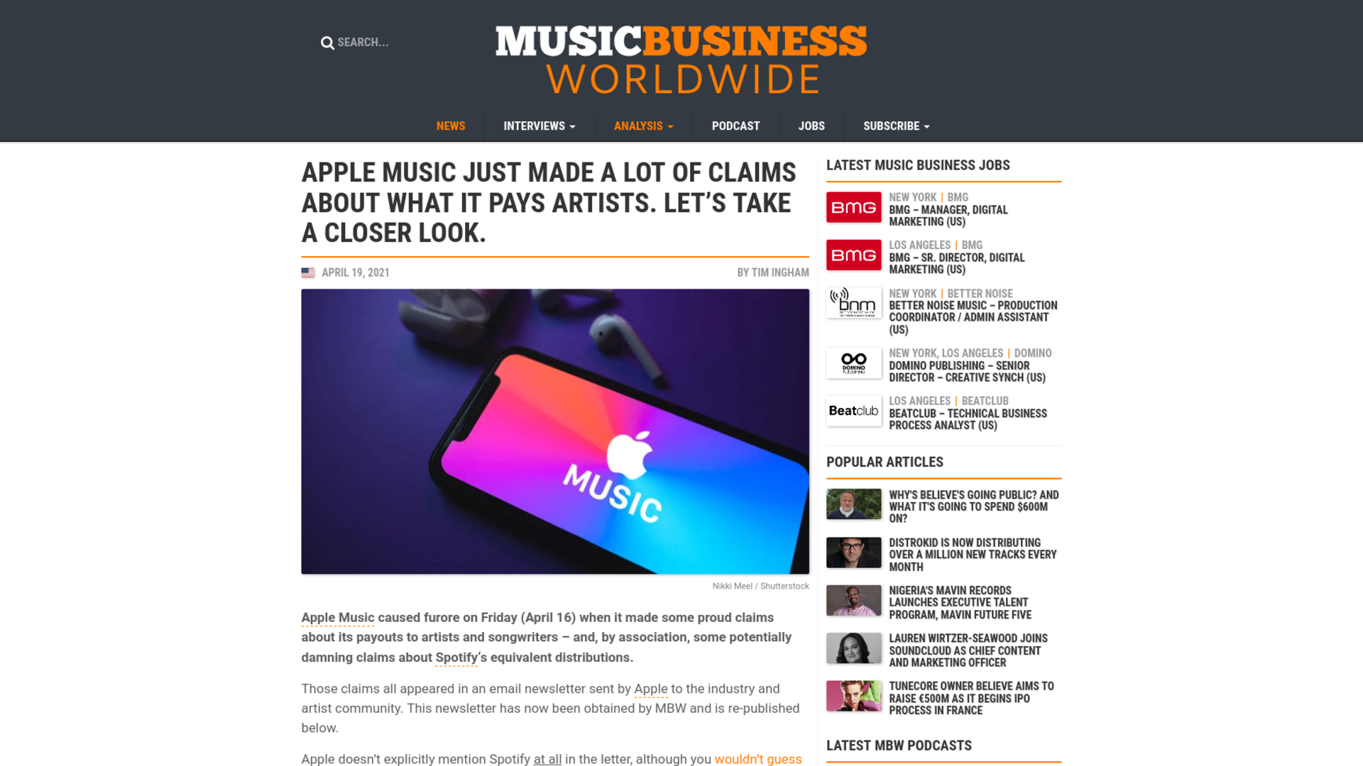 Fairness Rocks News Apple Music just made a lot of claims about what it pays artists. Let's take a closer look.