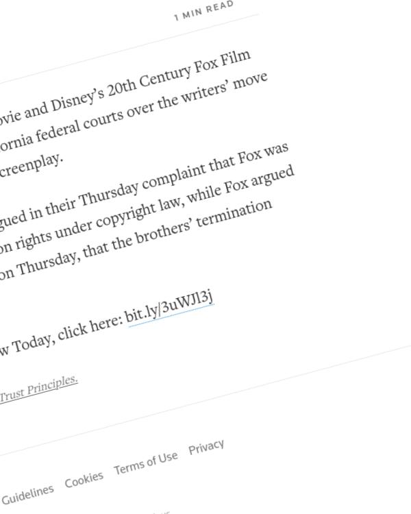 Fairness Rocks News Disney, 'Predator' writers file suits over copyright termination