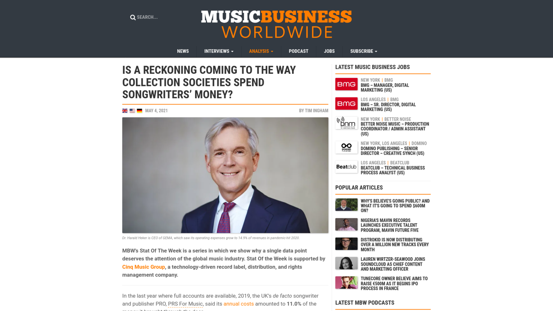 Fairness Rocks News Is a reckoning coming to the way collection societies spend songwriters' money?