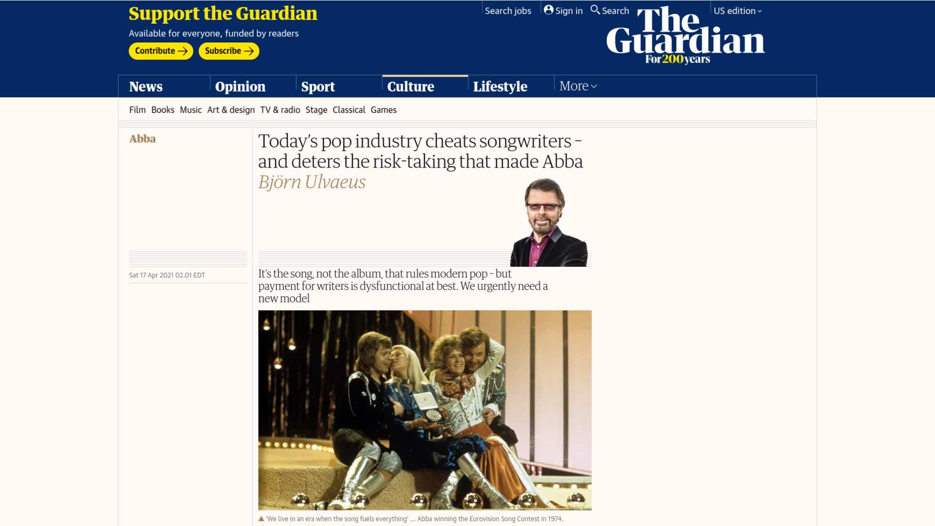 Fairness Rocks News Today's pop industry cheats songwriters – and deters the risk-taking that made Abba