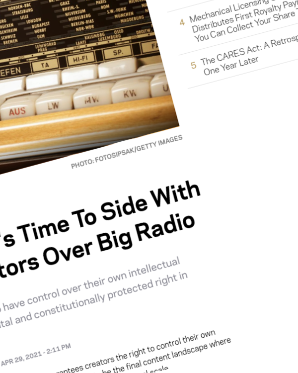 Fairness Rocks News Congress: It's Time To Side With Music Creators Over Big Radio