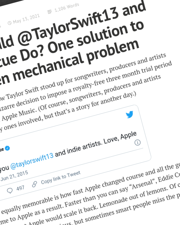 Fairness Rocks News What Would @TaylorSwift13 and Eddie @cue Do? One solution to the frozen mechanical problem