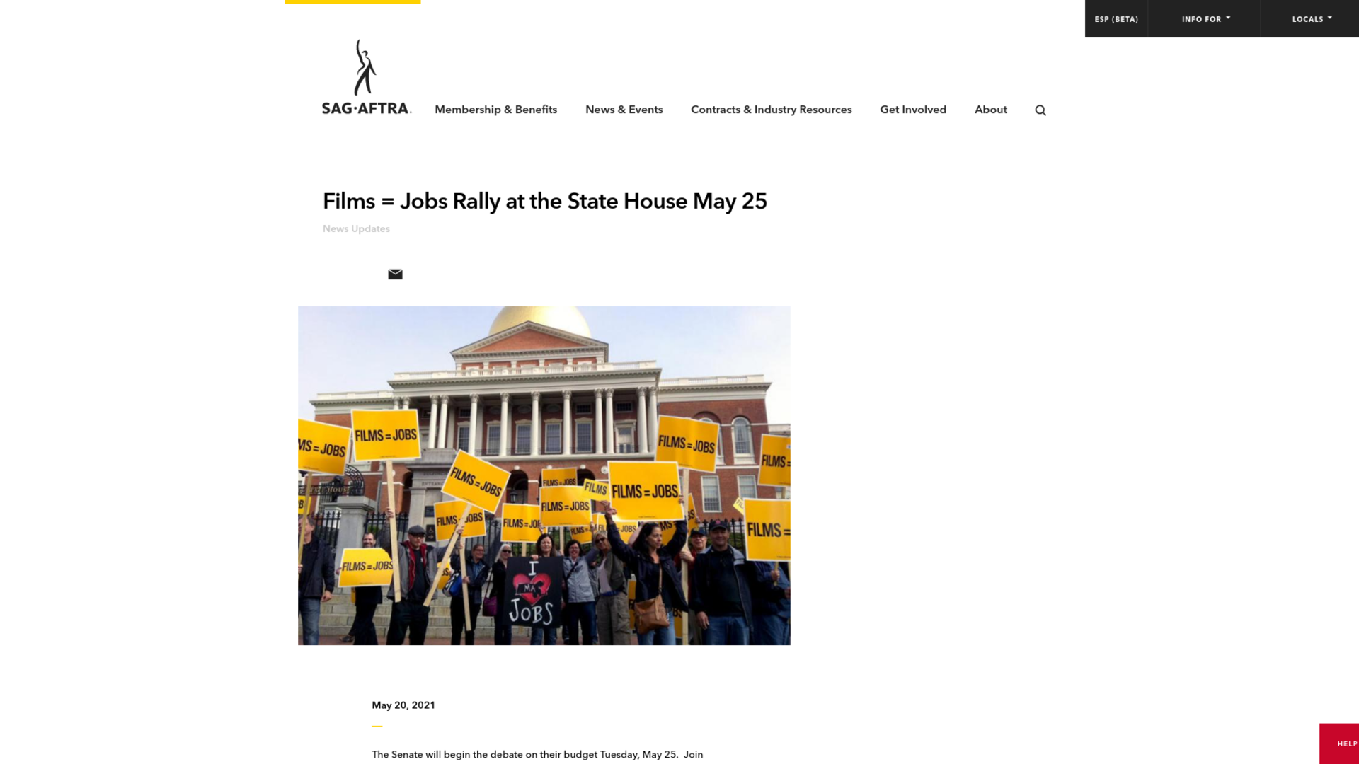 Fairness Rocks News Films = Jobs Rally at the State House May 25
