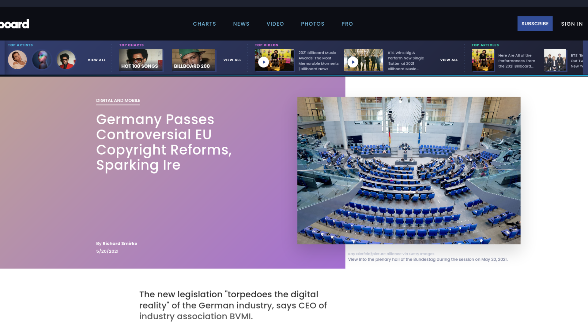 Fairness Rocks News Germany Passes Controversial EU Copyright Reforms, Sparking Ire