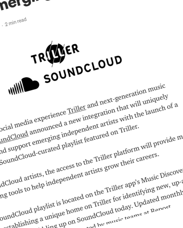 Fairness Rocks News SoundCloud, Triller Partner to Amplify Emerging Artists