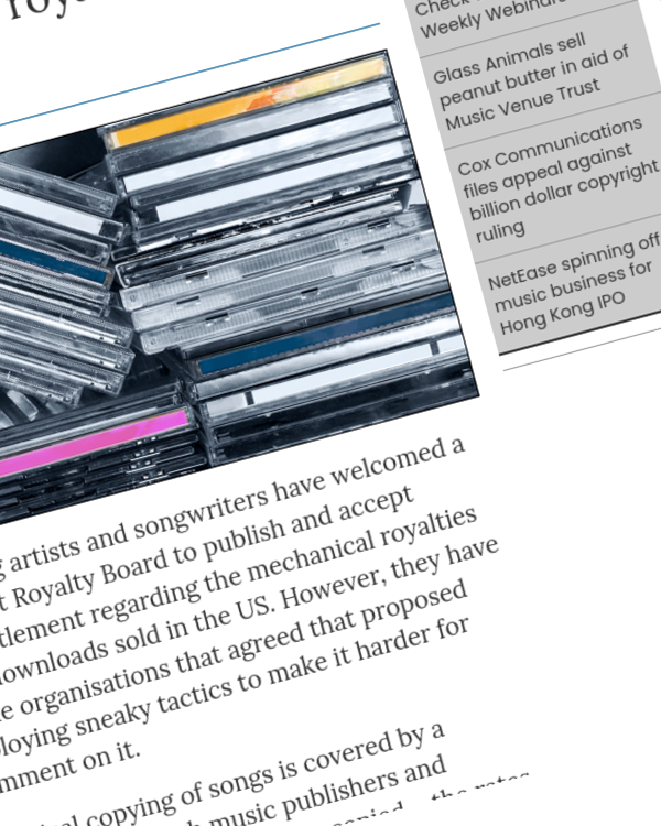Fairness Rocks News Songwriter groups urge US Copyright Royalty Board to open submissions on proposed new mechanical royalty rate on discs and downloads