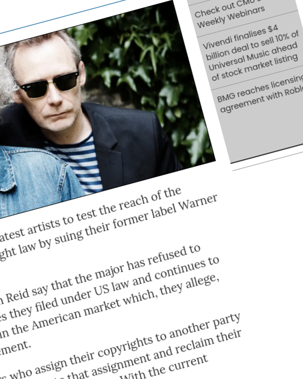 Fairness Rocks News The Jesus And Mary Chain latest artists to sue their former label over US termination right