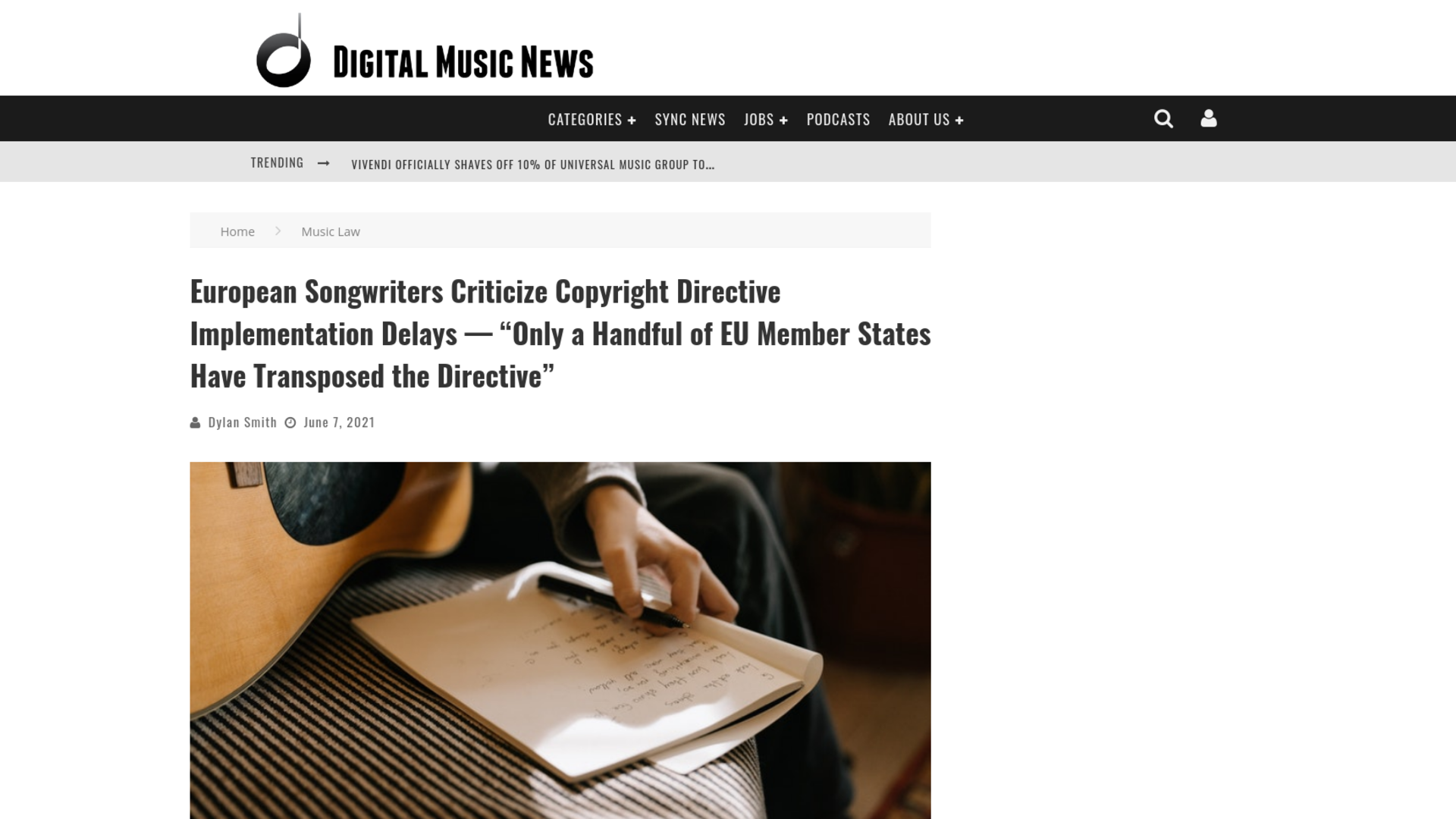 """Fairness Rocks News European Songwriters Criticize Copyright Directive Implementation Delays — """"Only a Handful of EU Member States Have Transposed the Directive"""""""